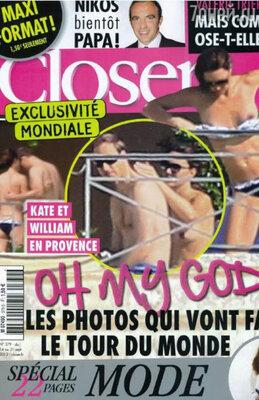 Французский журнал «Closer» все же опубликовал фотографии Кэтрин, на которых 30-летняя герцогиня запечатлена с голой грудью на отдыхе во Франции