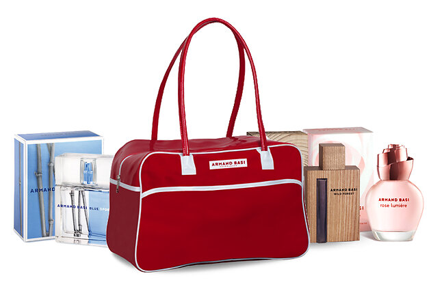 Подарок от Armand Basi победителю конкурса: ароматы Wild Forest, Rose Lumiere, Bly Sport и фирменная сумка!