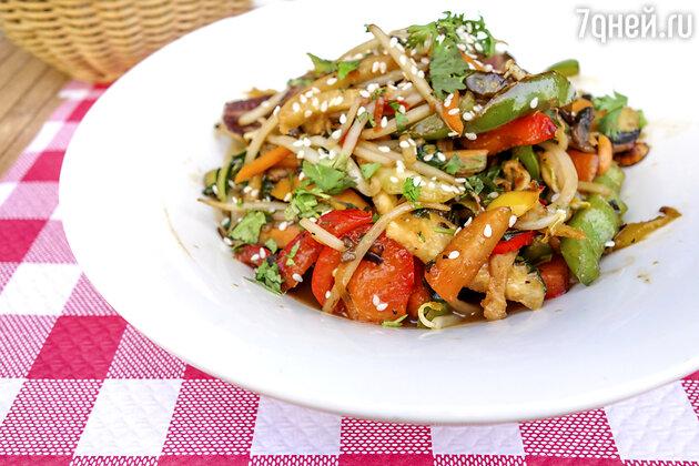 Постные рецепты: обжаренные овощи в воке от шеф-повара Мишеля Ломбарди