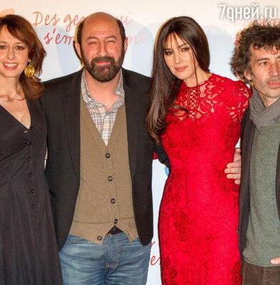 Моника Беллучии с коллегами по фильму
