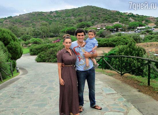 Анфиса Чехова с Гурамом Баблишвили исыном Соломоном на отдыхе в Италии