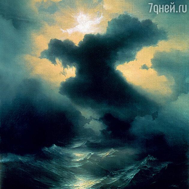 Фото репродукции картины «Хаос. Сотворение мира» И.К. Айвазовского, 1841 г. Музей армянской конгрегации мхитаристов, Венеция
