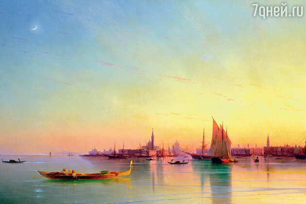 Репродукции картины «Вид Венеции с лагуны при закате» И.К. Айвазовского, 1873 г. Частная коллекция