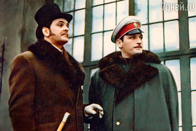 Юрий Яковлев с Василием Лановым вфильме «Анна Каренина». 1967 г.