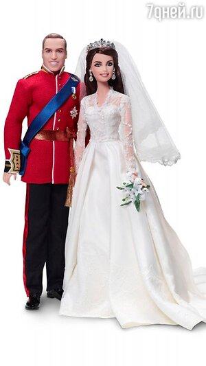 Куклы Принца Уильяма и Кейт Миддлтон в свадебном платье от Alexander McQueen