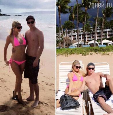 «Еще один день в раю с Ривером», — по традиции написала Пэрис утром в «Твиттере», поставив хэштег «жизньпрекрасна» и опубликовав фотографию, где они с Ривером изображены на пляже
