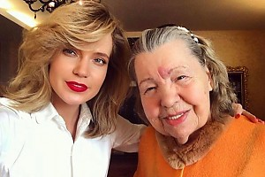 Наталья Ионова навестила бабушку