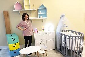 Беременная Анастасия Стоцкая обустраивает детскую