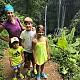 Юлия Барановская с детьми на Бали