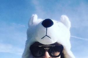 Наталья Подольская отдыхает  на горнолыжном курорте