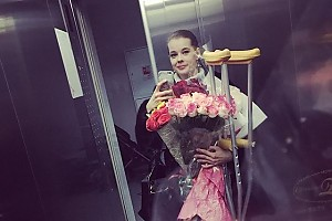 Катерина Шпица получила травму ноги