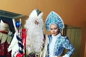 Юлия Пересильд поработала снегурочкой