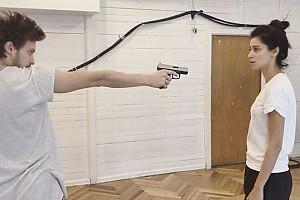 ВИДЕО: опасная Равшана Куркова оттачивает навыки самозащиты