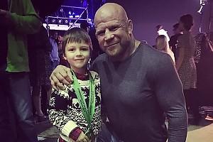 Сын Дмитрия Диброва встретился со своим кумиром