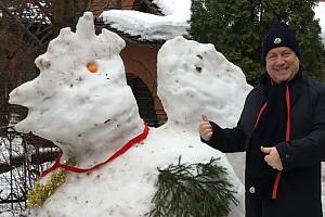 Владимир Винокур и его снежный петух