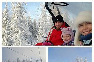 Анна Чурина попала в зимнюю сказку