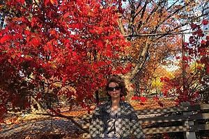 Лянка Грыу в восхищении от красок осени на Манхэттене