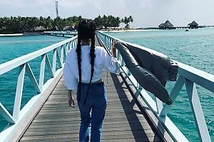 Елена Темникова «дорвалась» до долгожданного отпуска