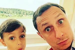 Сын Вадима Галыгина не отстает в артистизме от папы