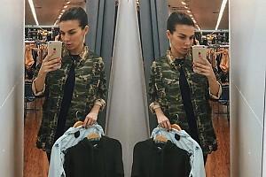 Анна Седокова меняется с дочкой одеждой