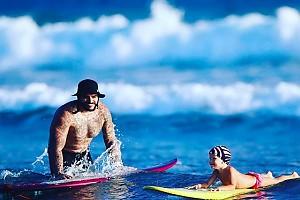 Тимати учит дочку дружить с океаном
