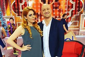 Анастасия Стоцкая и Гоша Куценко на съемках новогодней программы