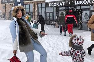 Марина Ким попала в метель в Сочи