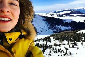 Аглая Тарасова счастлива в горах