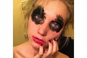 Кристина Асмус после рабочего дня в театре