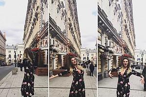 Шаманские танцы Анны Семенович в центре Москвы