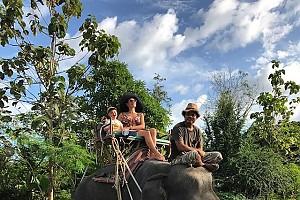 Эвелина Блёданс с сыном покатались на слоне