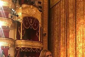Стеша Маликова посетила Большой театр