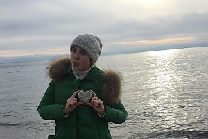 Ирина Слуцкая насладилась зимним пейзажем Байкала