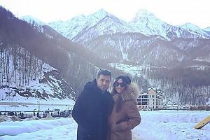 Ани Лорак на прогулке с мужем