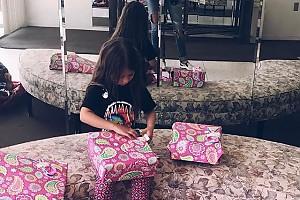 Дочка Виктории Бони получила на день рождения гору подарков