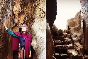 Ирина Безрукова посетила Храм Луны в Перу