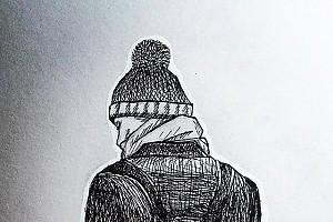 Диму Билана нарисовали черной ручкой