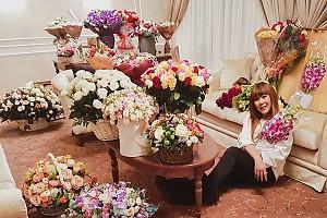 Аните Цой подарили её любимые цветы