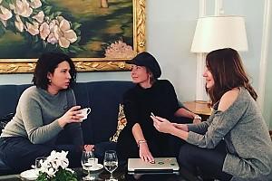 Юлия Высоцкая: «Кофе перед репетицией»