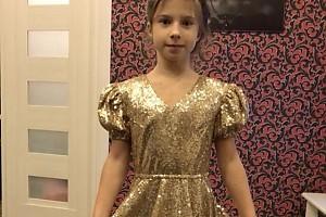 ВИДЕО: дочка Юлии Барановской примерила платье принцессы