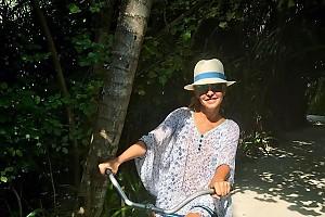 Велосипедная прогулка Татьяны Навки