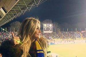 Виктория Лопырева расплакалась из-за победы футбольного клуба родного города
