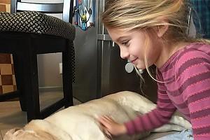 Дочка Евгении Брик Зоя и ее любимая собака