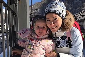 Марина Ким увезла дочку в Сочи